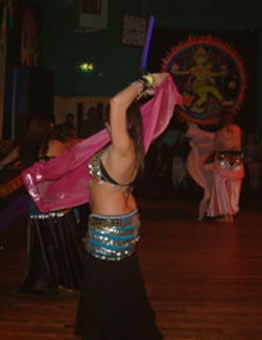 bellydancers at Kissmet gig at Narberth Queens Hall