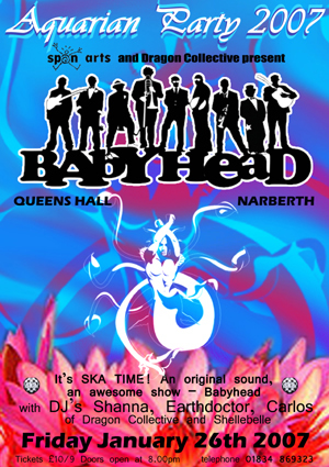 poster for Aquarian Party on 26 January 2007
